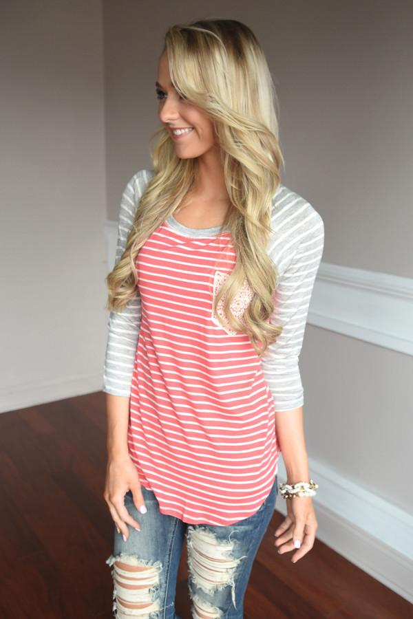 Life in Stripes ~ Coral
