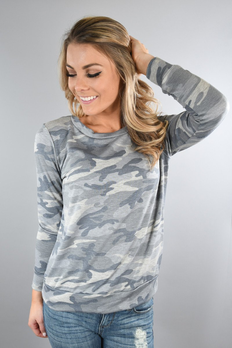 Long Sleeve Light Camo Top