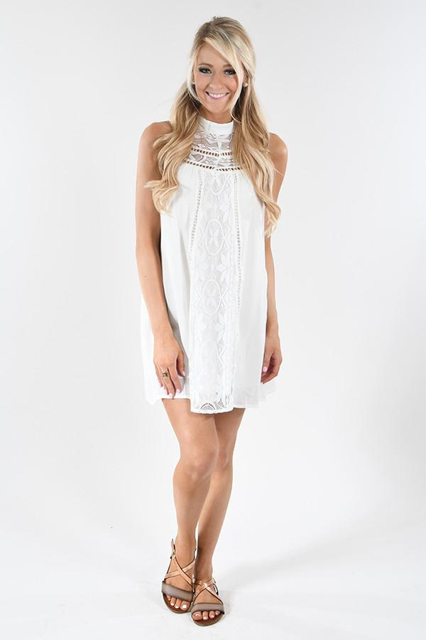 All About the Lace Halter Dress