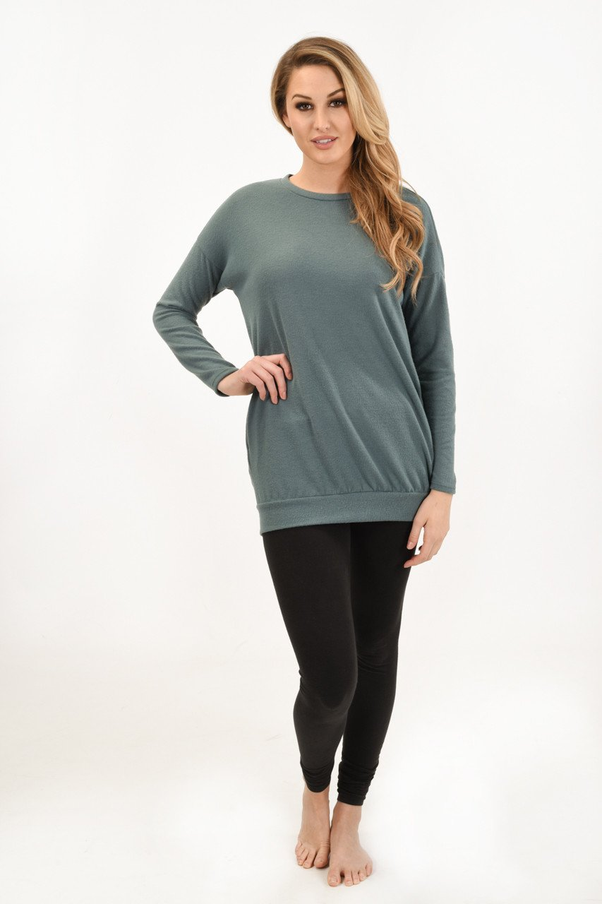 Snuggle Me Tunic Top ~ Sea Foam