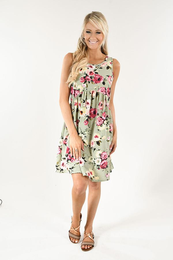 Light Green Floral Dress