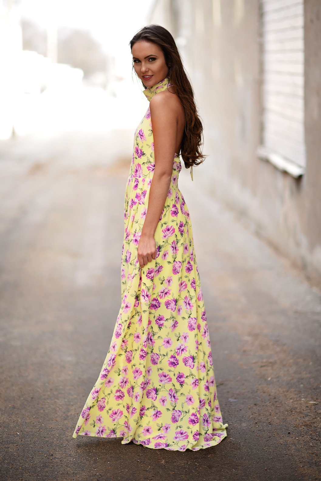 Like a Rose Yellow Maxi Dress