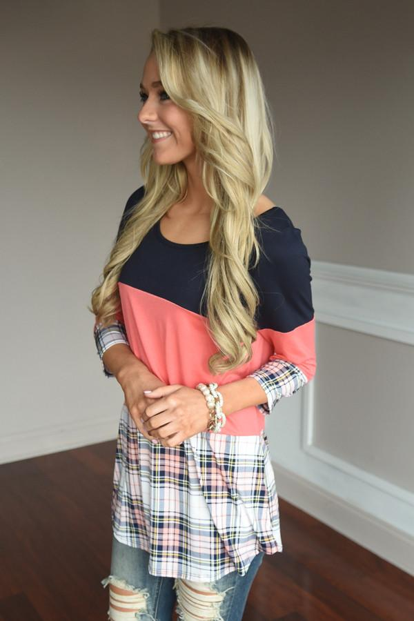 Plaid to Perfection ~ Coral