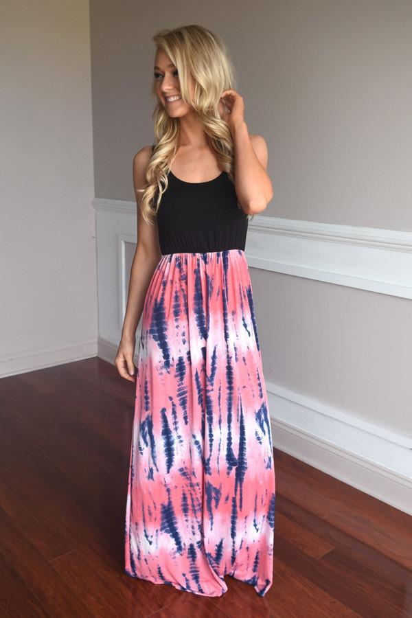 Dipped in Dye Maxi ~ Pink