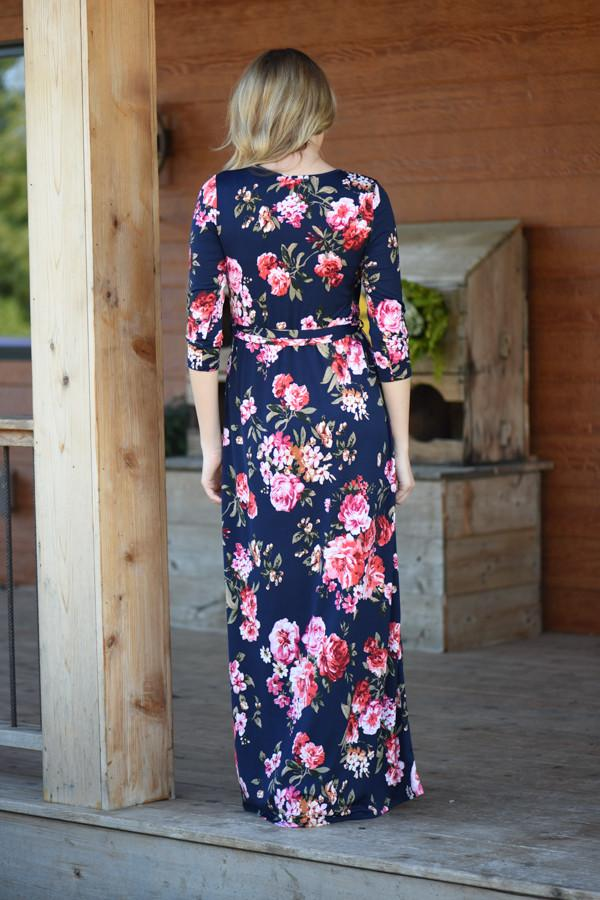 At Peace Floral Maxi Dress