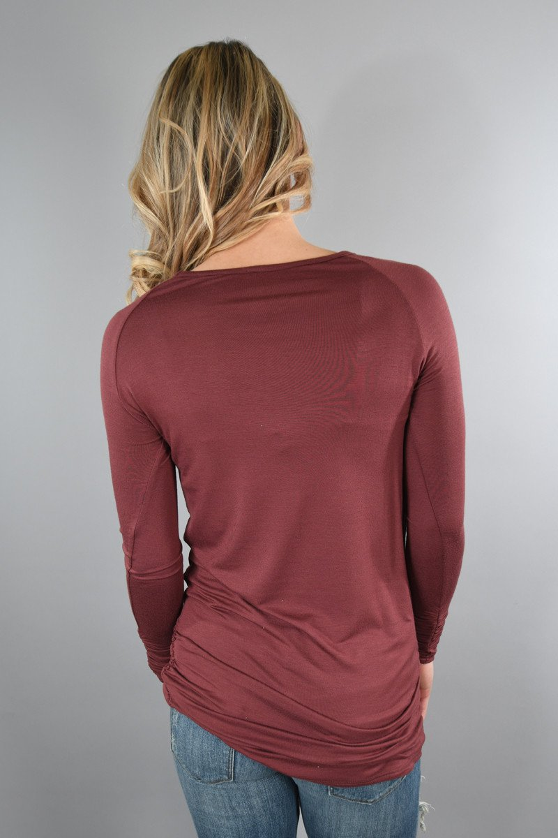 Dark Mauve Basic Layering Top