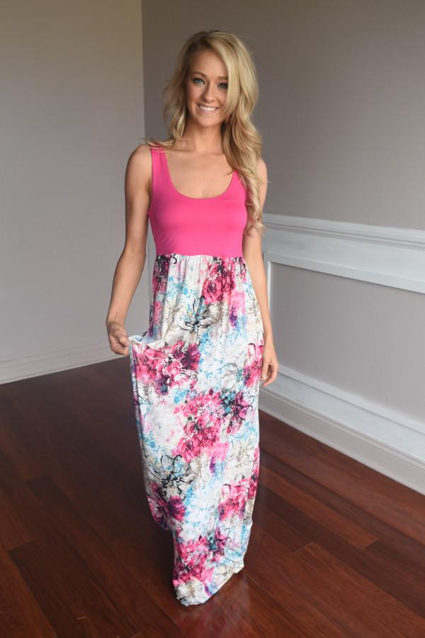 Splash into Summer Maxi ~ Pink