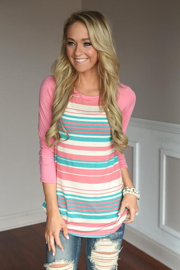 Stripes of Spring Top