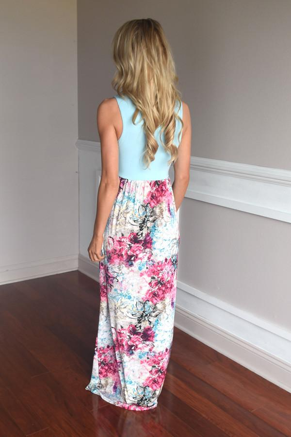 Splash into Summer Maxi Dress~ Blue
