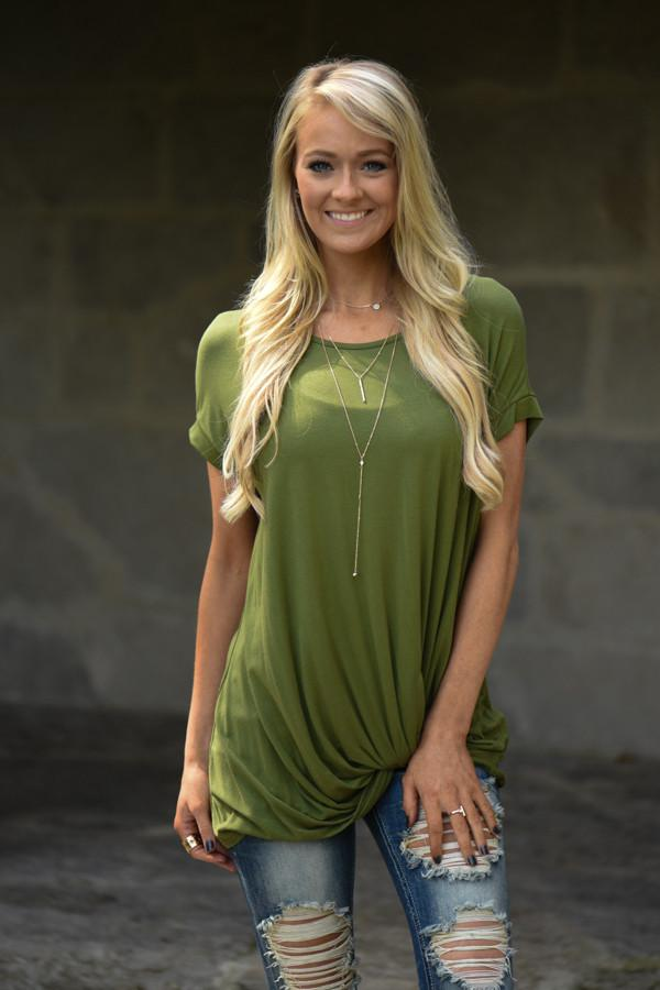 Green Knot Top