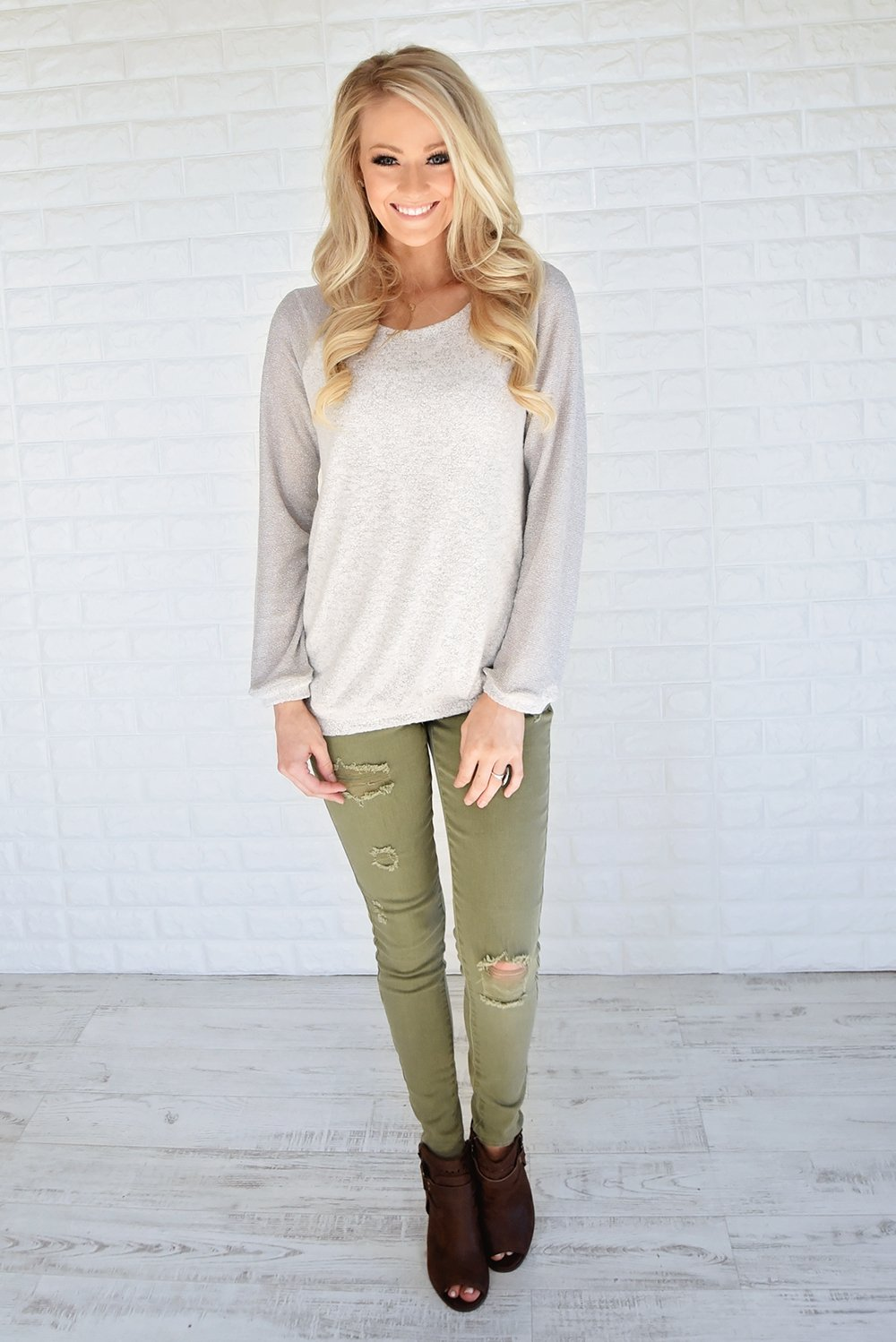 Endless Love Sweater ~ Grey