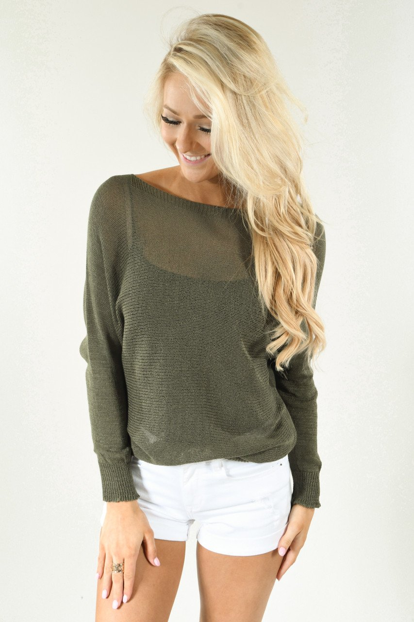 Meshed Together Olive Top