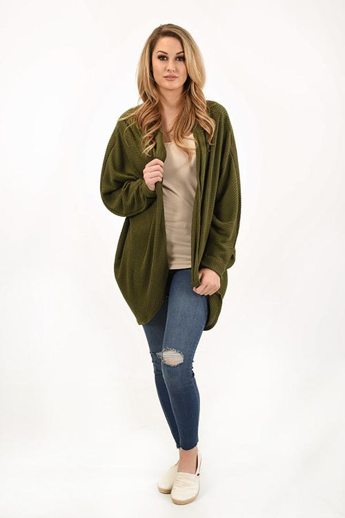The Coziest Cardigan ~ Olive