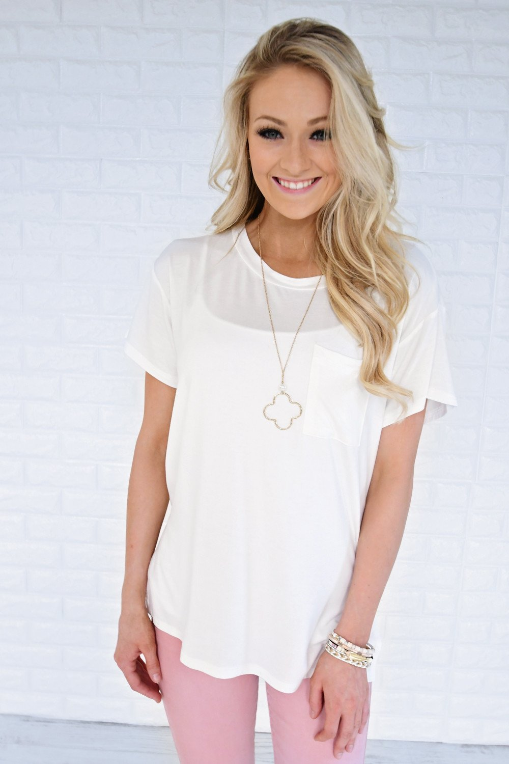 Ready or Not Pocket Top ~ White