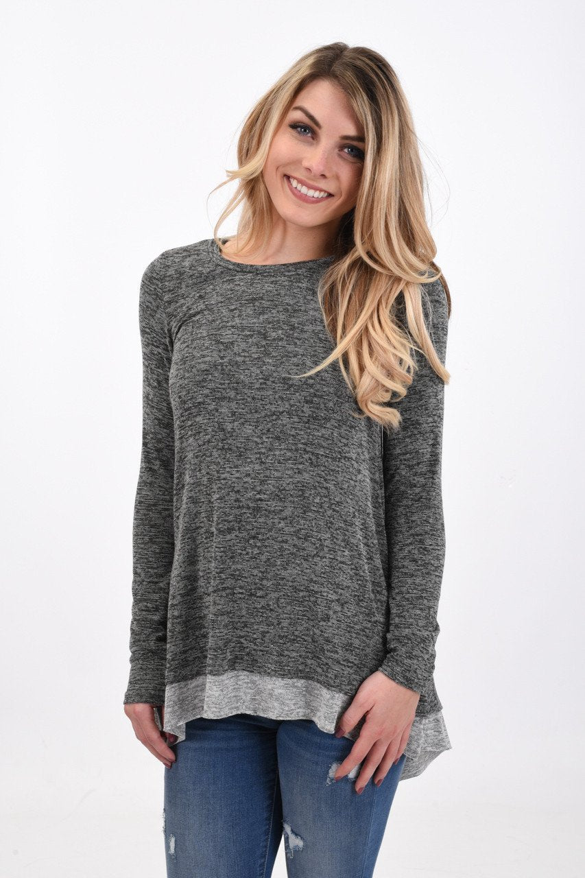 Cut-Out Top ~ Grey