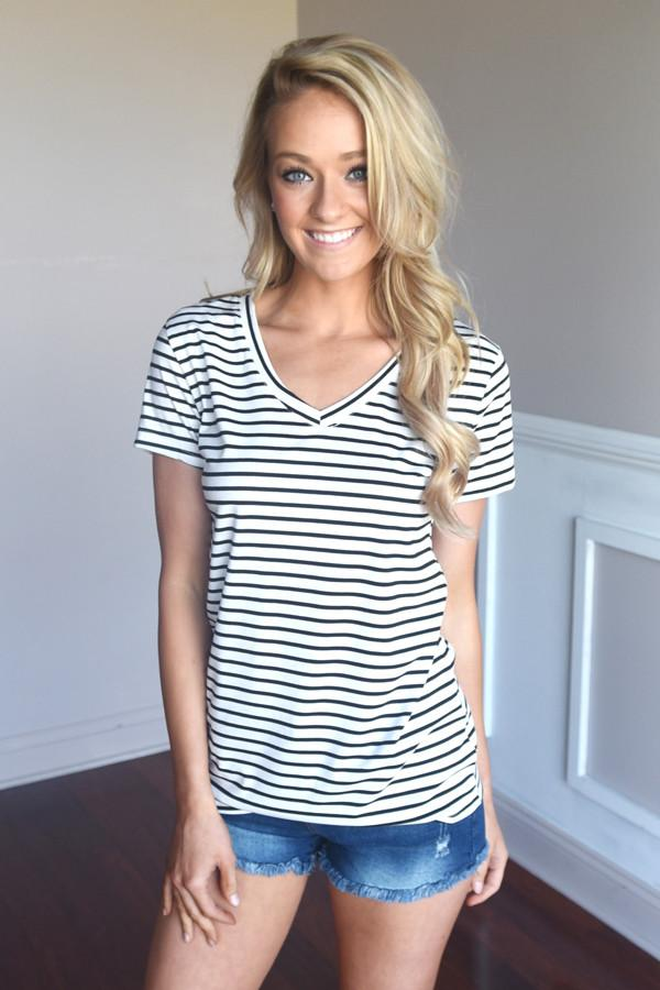Run the World Tee ~ Stripes