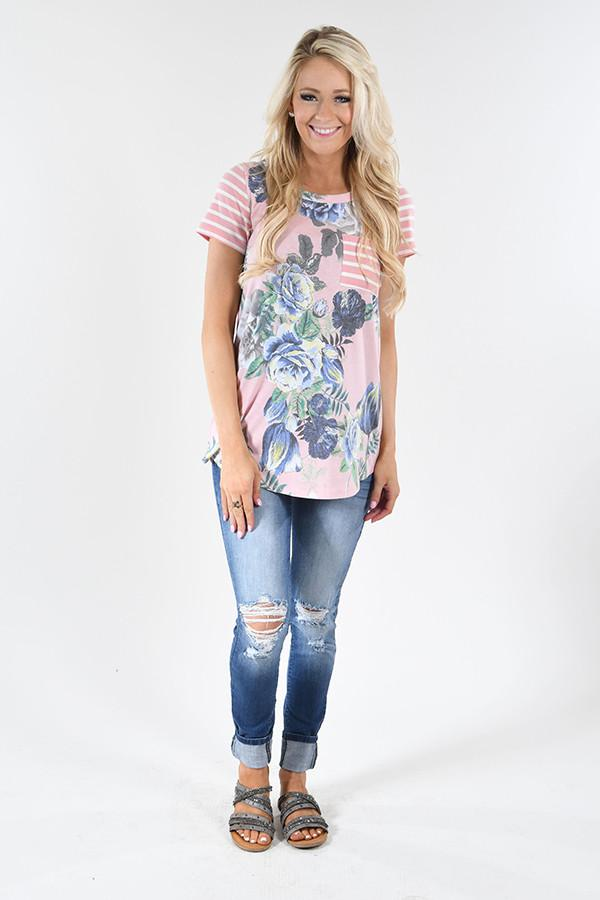 Tulip Time Pocket Top - Pink