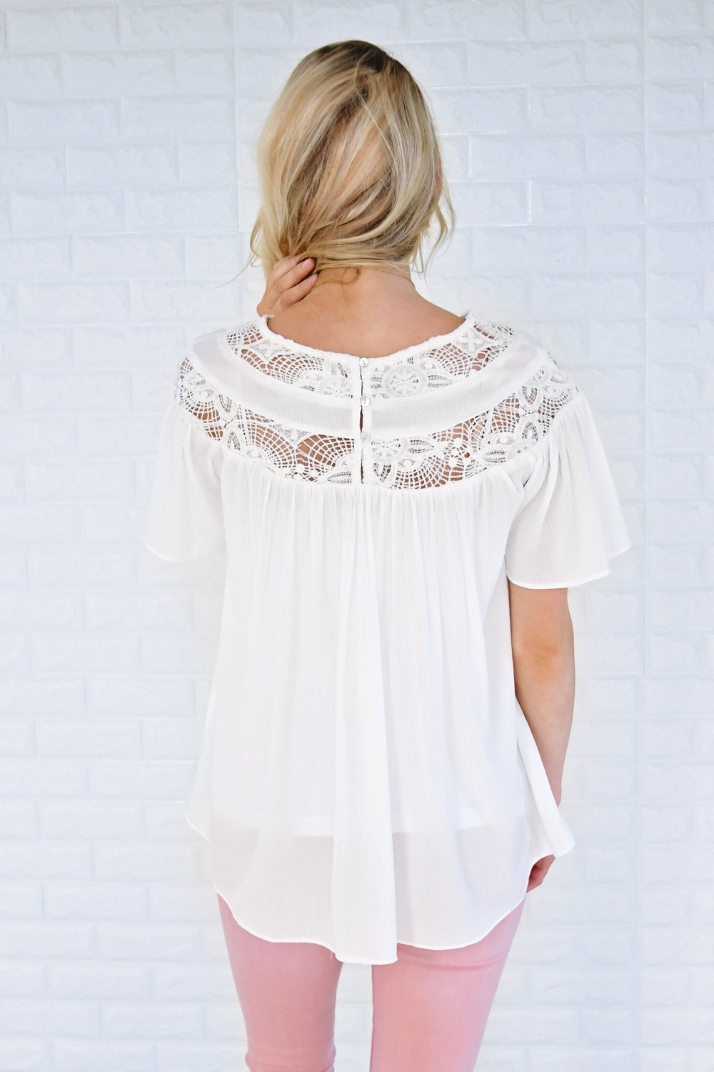 Love Broke Through White Blouse