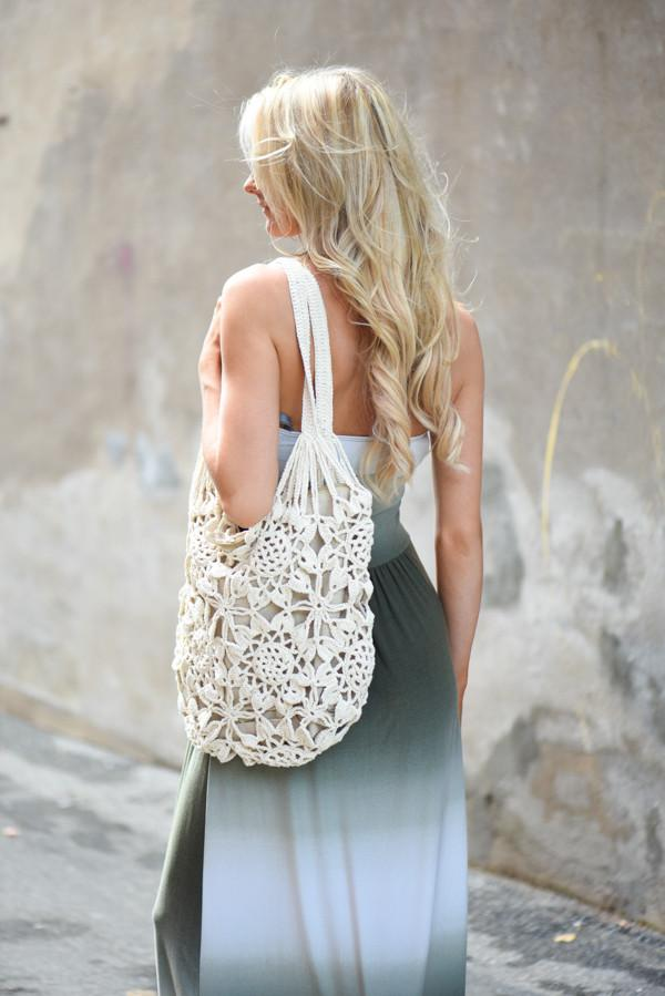 Ivory & Taupe Satchel