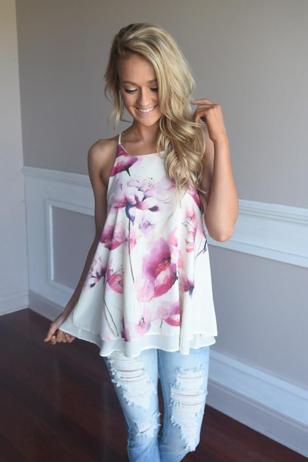 Chic in Floral Top