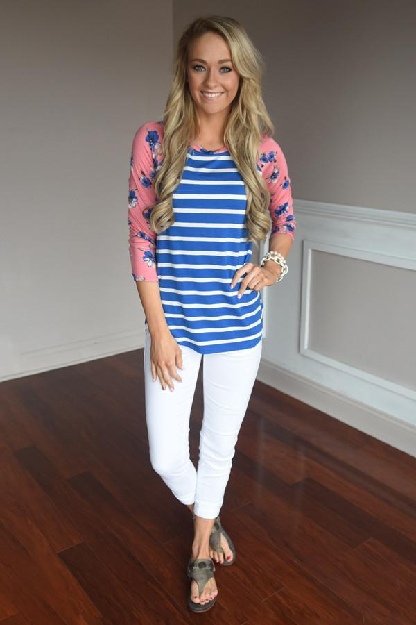 Sugar & Spice Top ~ Blue