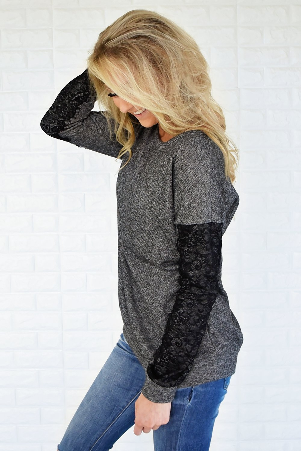 Just a Touch of Lace Sweater