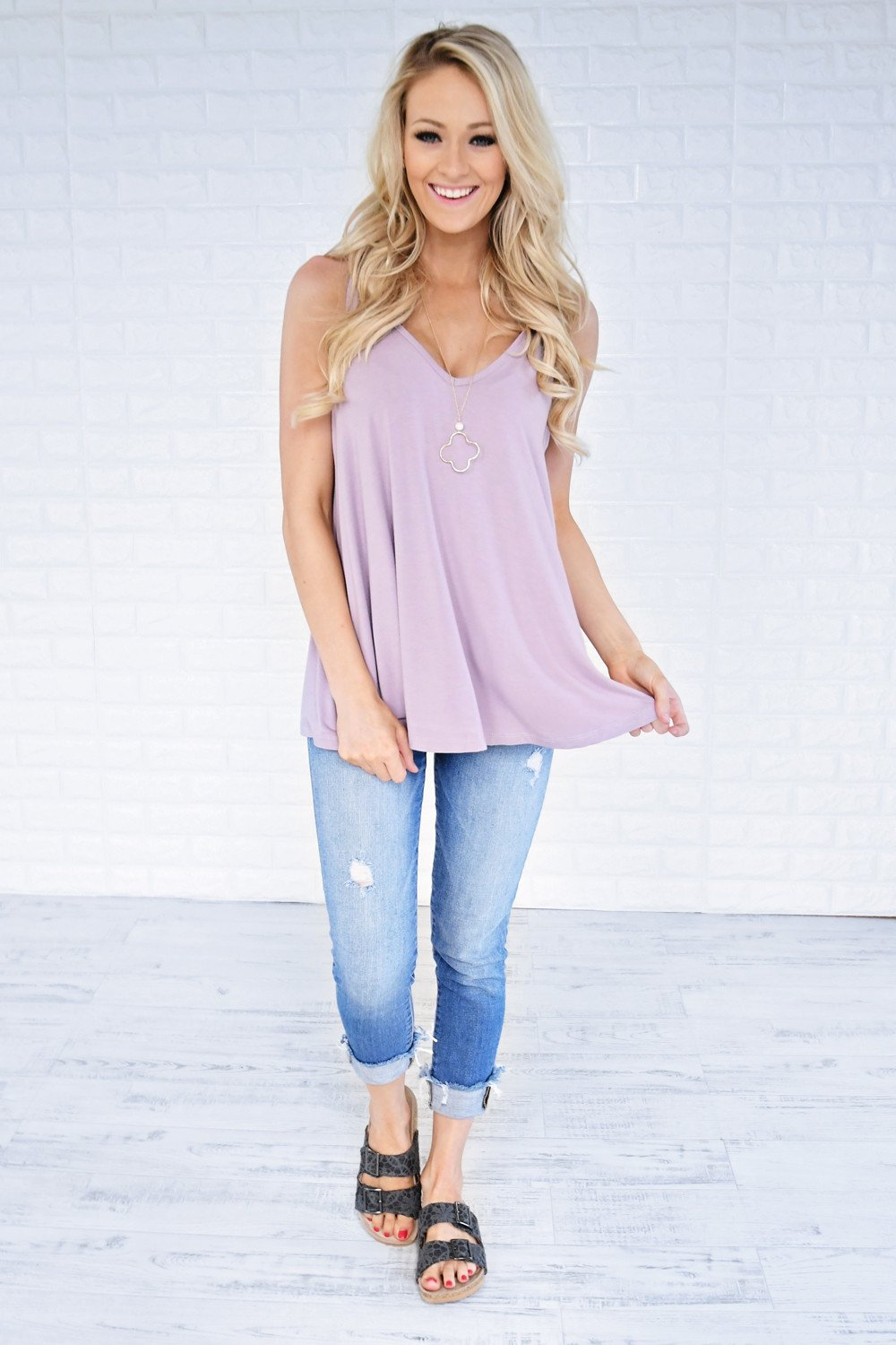 Softest Tee Ever - Dusty Lavender