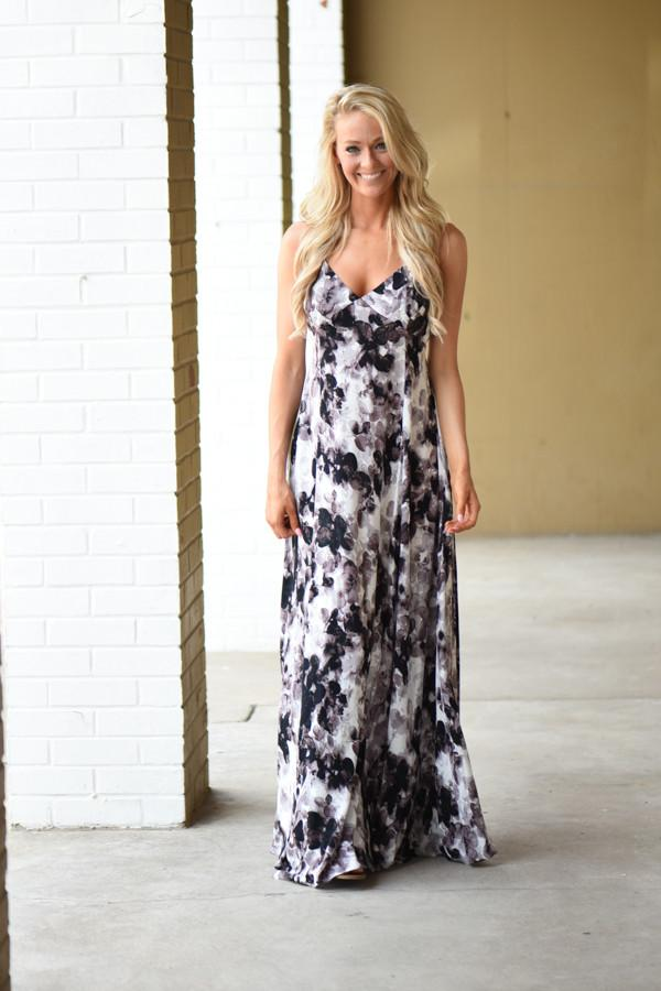 In the Cards Maxi Dress ~ Black