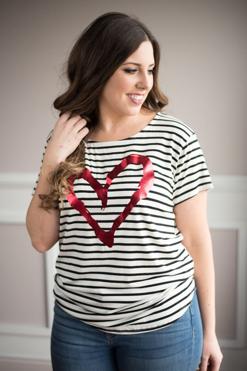All of My Heart Striped Top