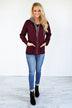 Essential Fall Jacket - Burgundy