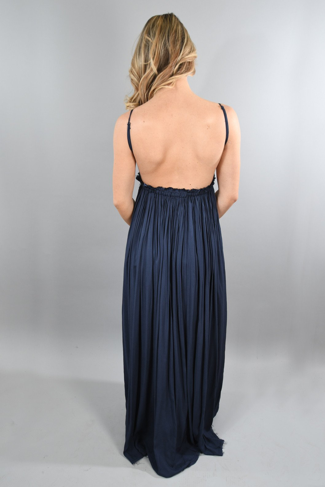 All Ruffled Up Maxi ~ Navy