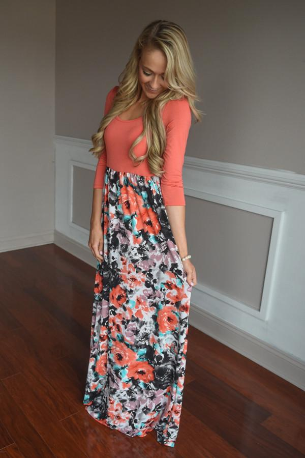 Be Unforgettable Maxi ~ Coral