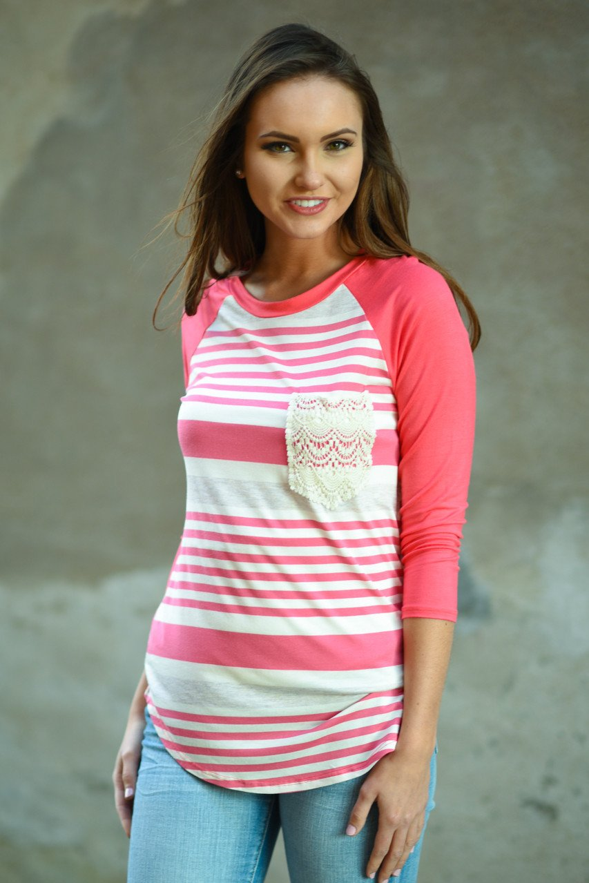 Bringing the Fun Top ~ Bright Pink