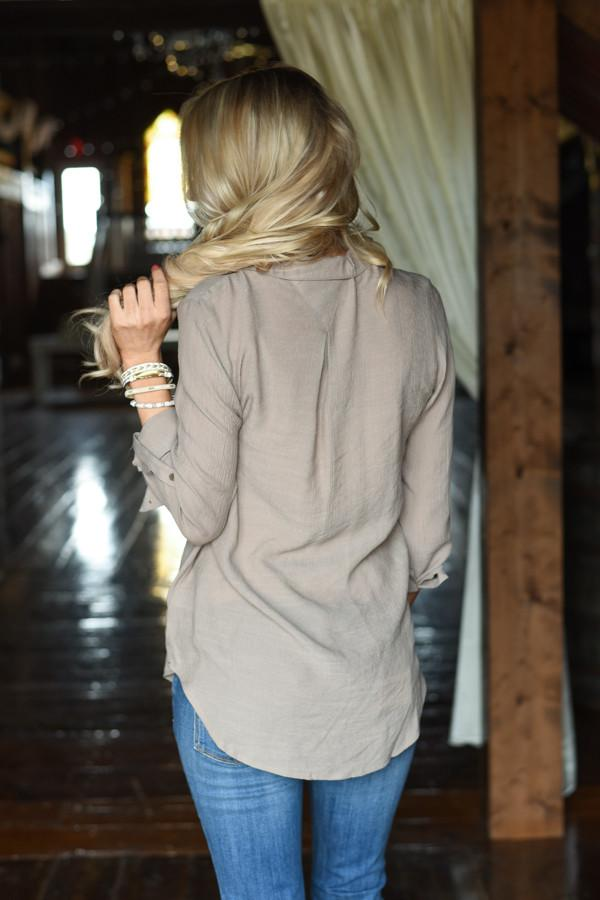 Ahead of the Game Top ~ Taupe