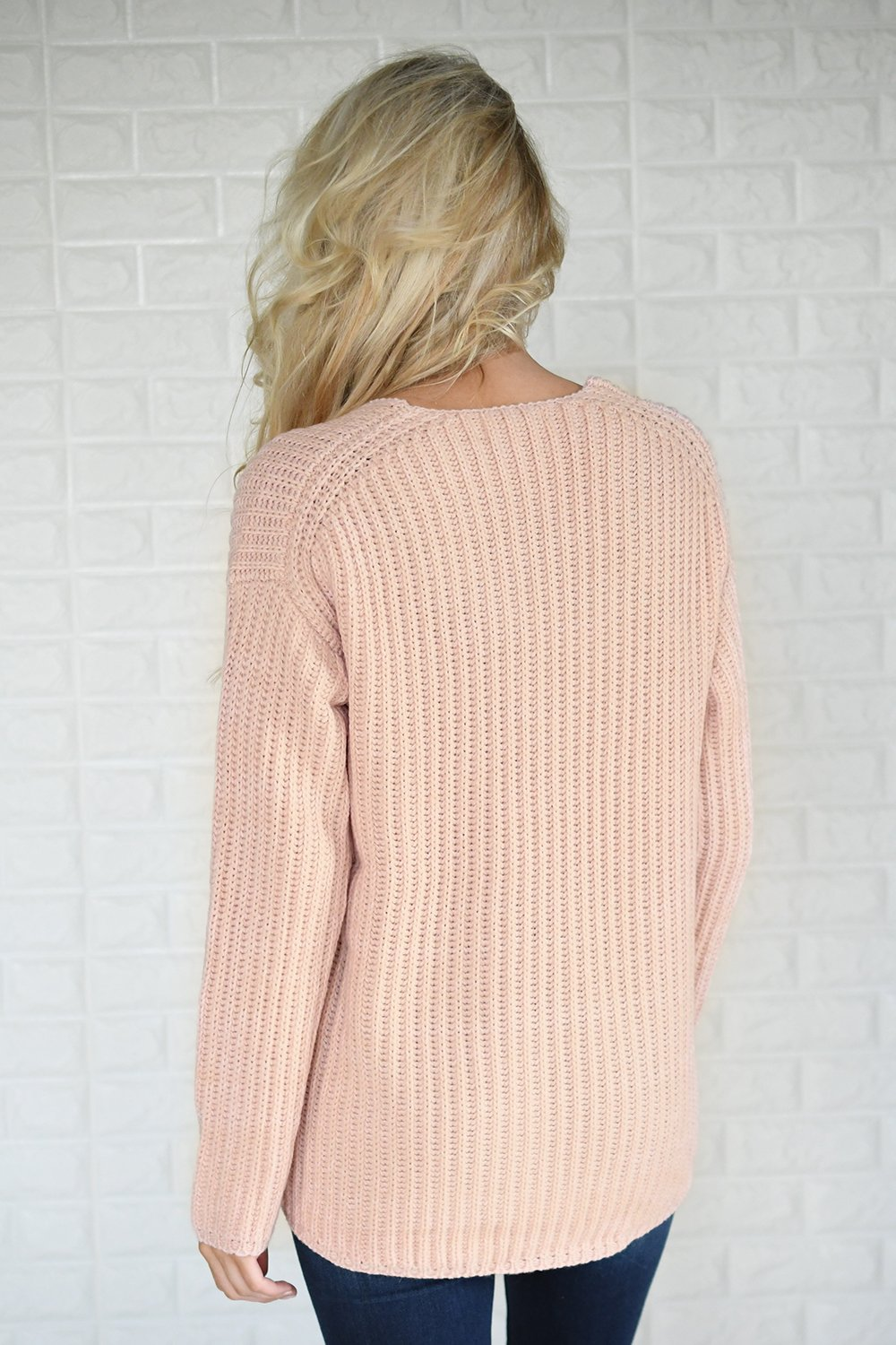 Hello Beautiful Blush Knit Sweater