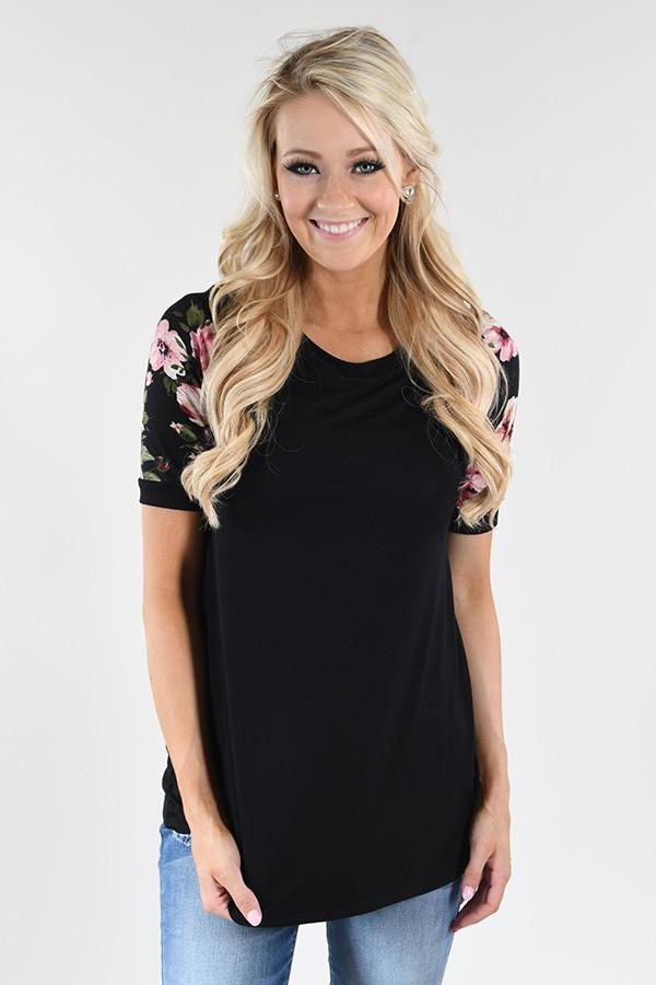 Show Your Best Top ~ Black Sleeve