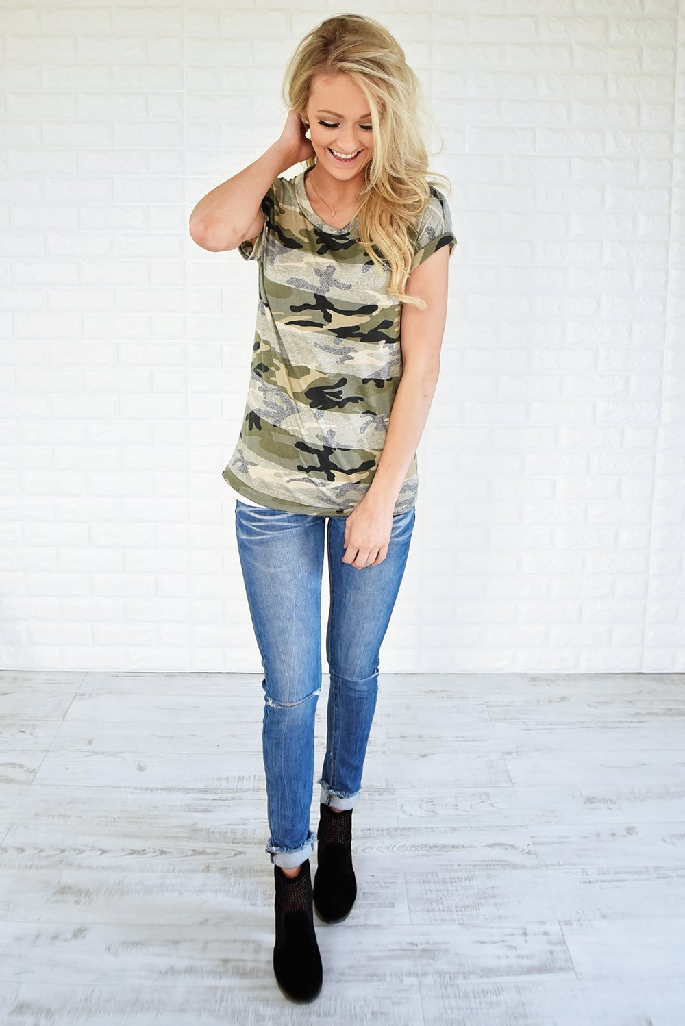 She's Killing It Camo Top