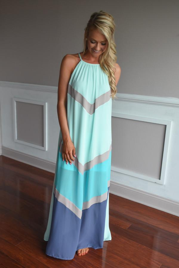 Deja Vu Maxi Dress ~ Mint