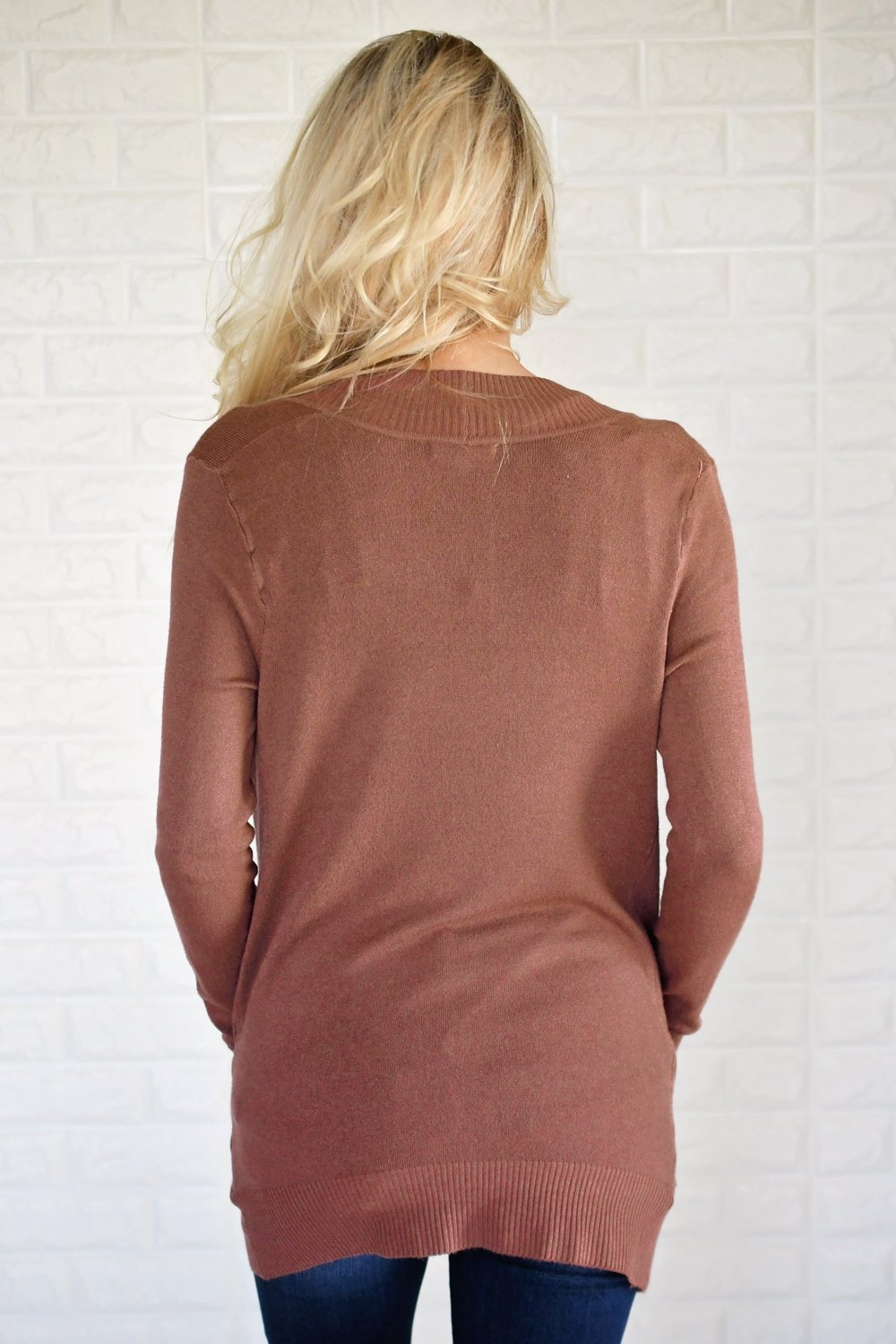 The Fundamental Cardigan ~ Burnt Sienna