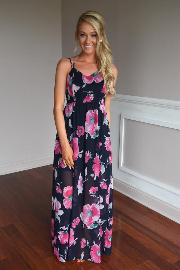 Among the Flowers Maxi Dress