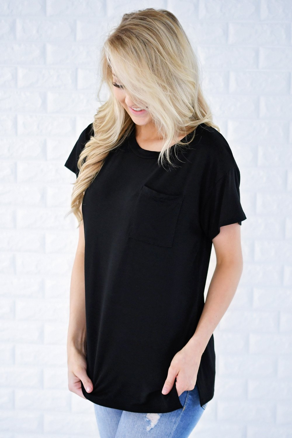 Ready or Not Pocket Top ~ Black