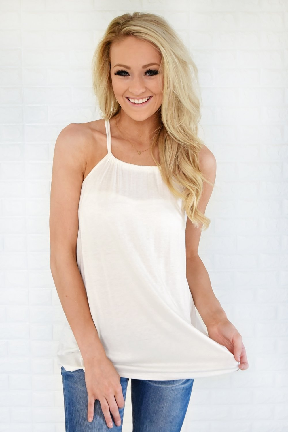 No Strings Attached Tank Top ~ White