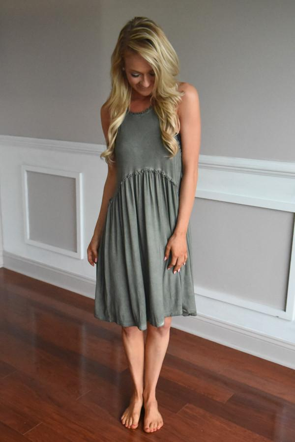 Gentle Breeze Dress ~ Olive