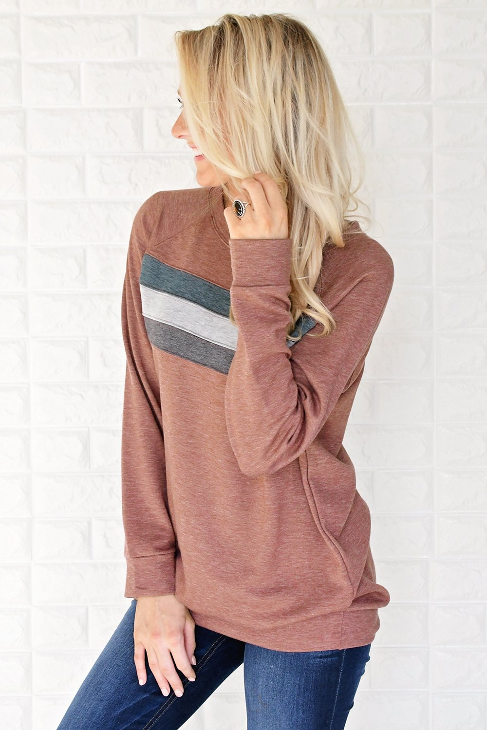 Stripes by the Fireside ~ Rust Red