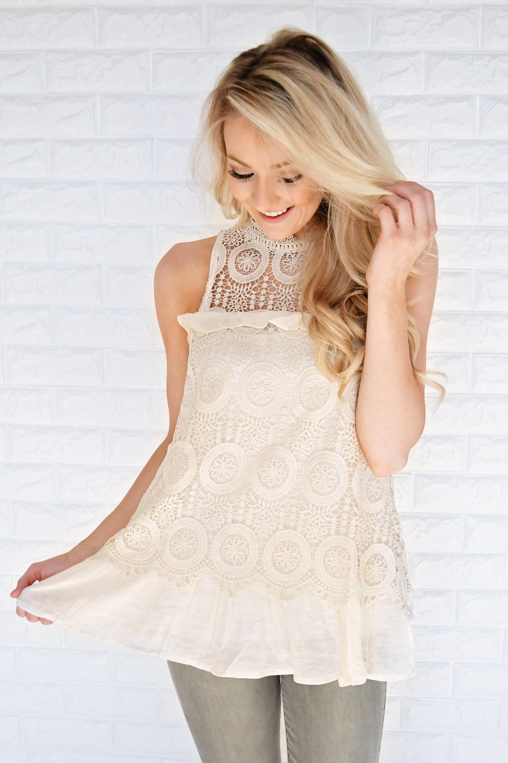Good Ol' Days Lace Top