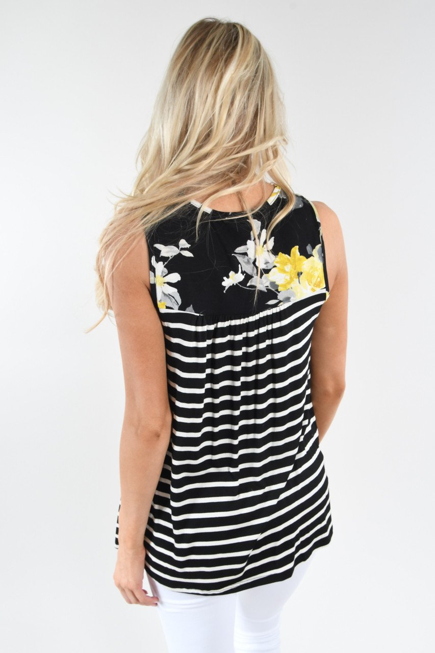 Pocketful of Sunshine Striped Tank