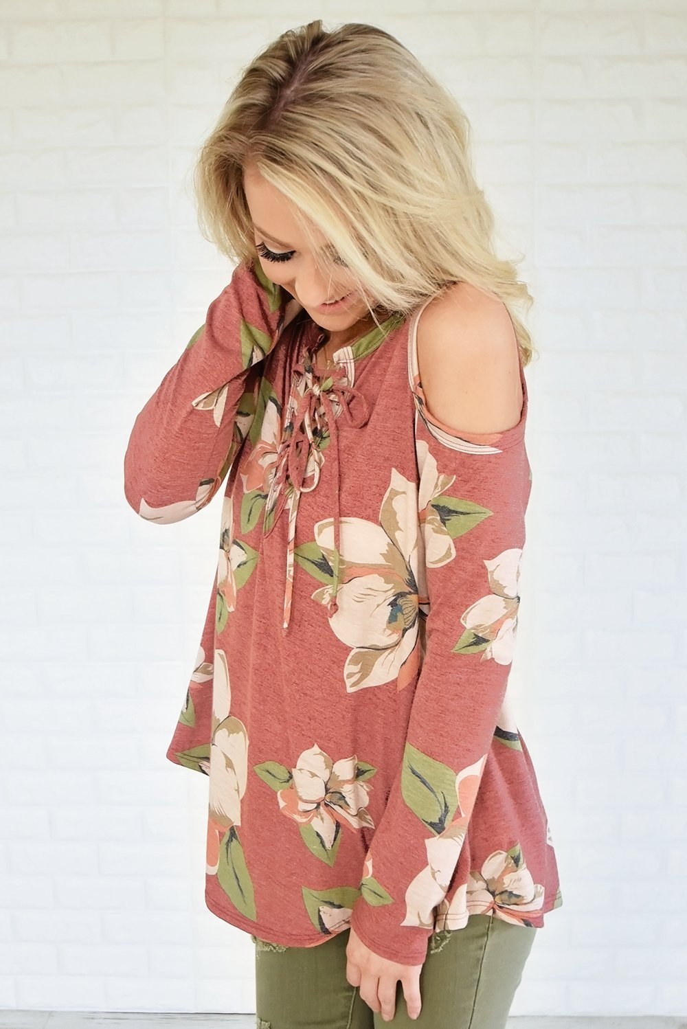 Whatever Tomorrow Brings Cold Shoulder Top