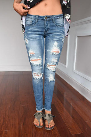 Caroline Wash Denim Jeans