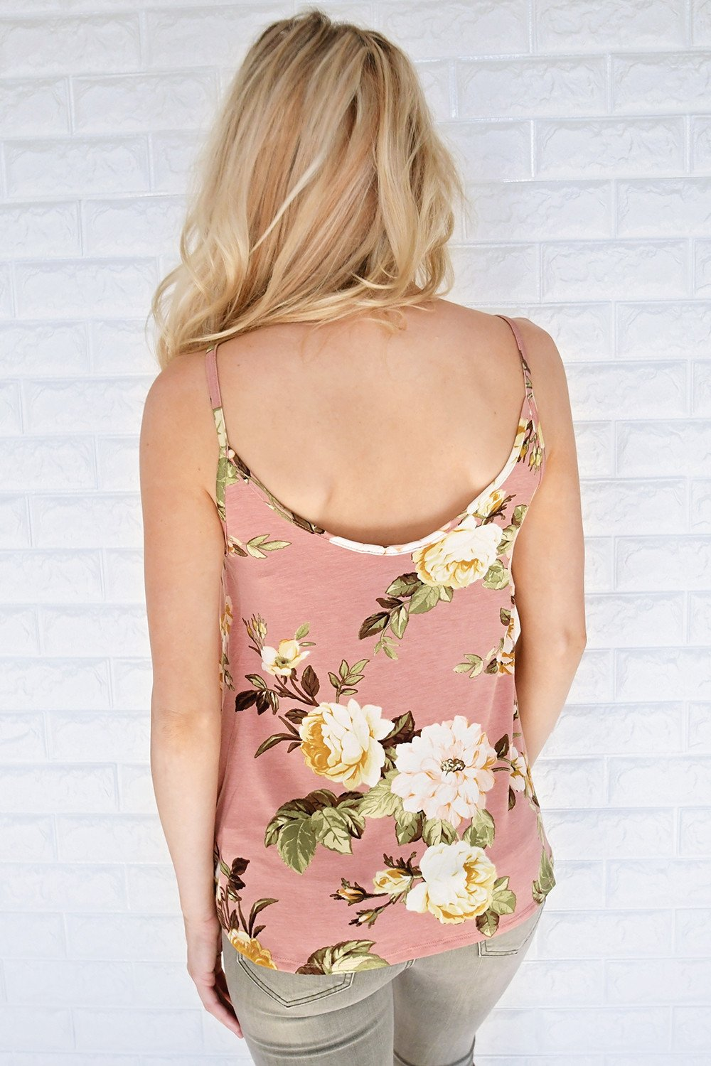 Sweet as Honey Floral Tank Top