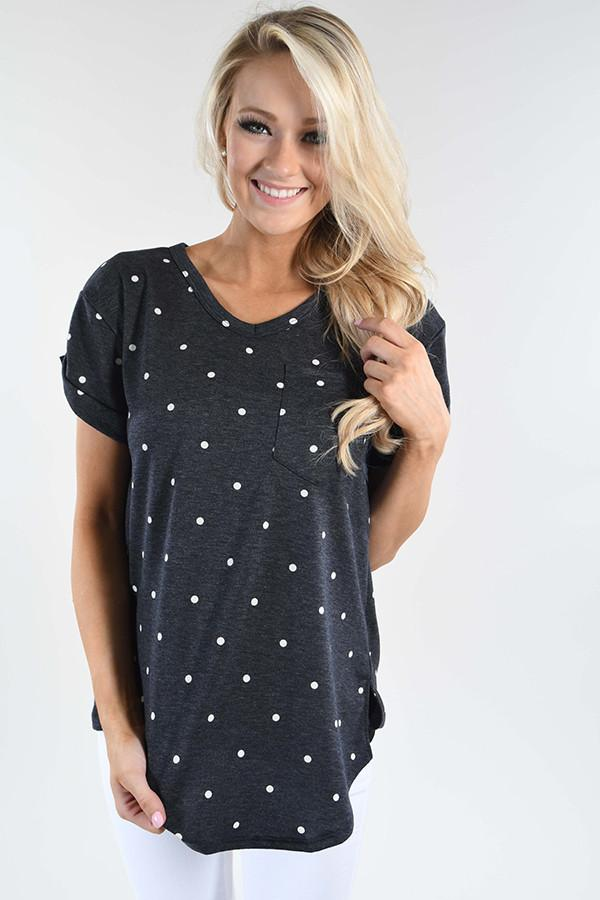 It's All About the Dots Top - Deep Navy